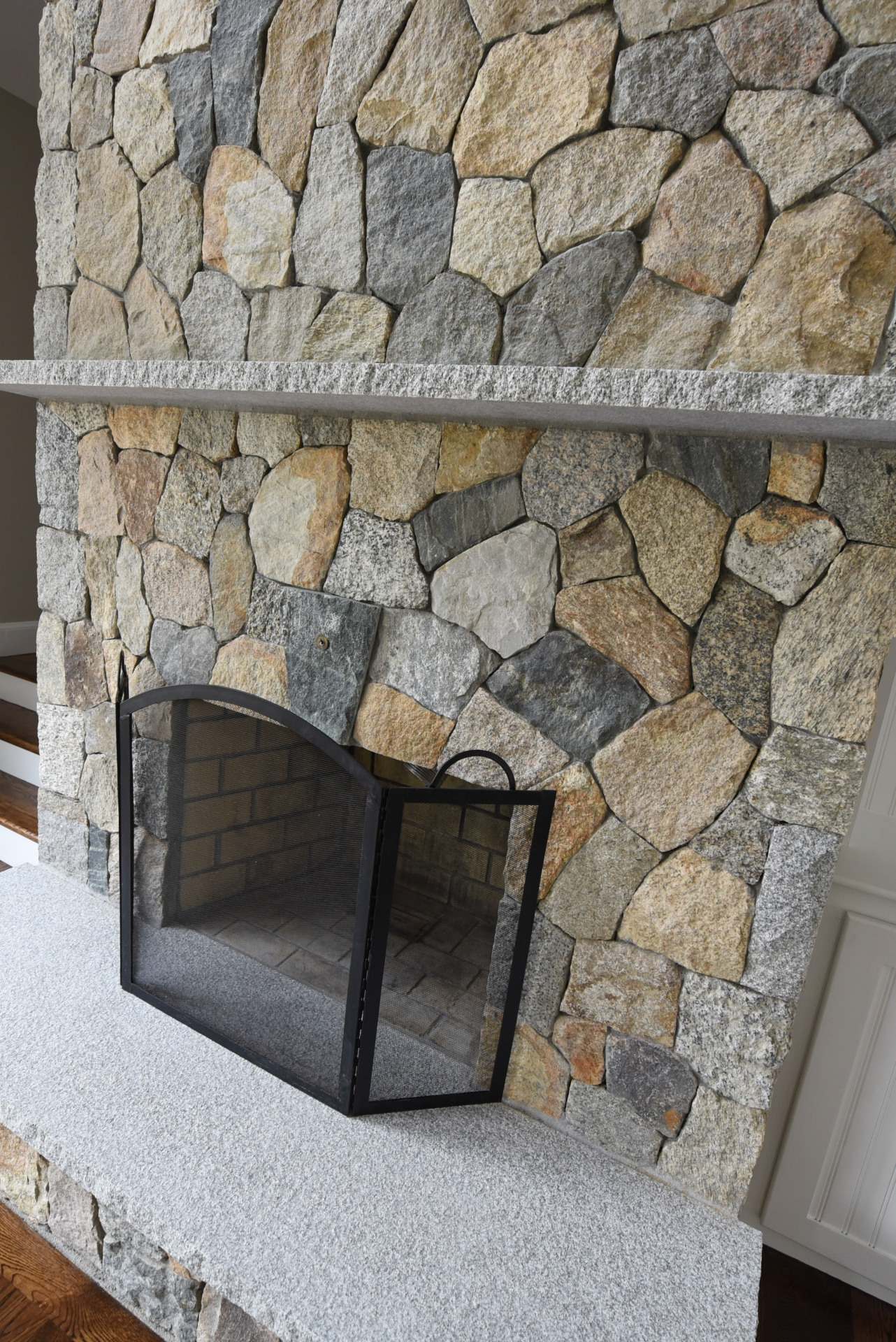 Stone Fireplace New England Blend Mosaic In Mendon Ma